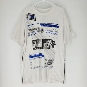 American Fighter 2XL Buckle t-shirt white blue